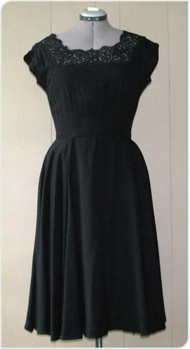 black lace dress from Reware Vintage