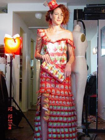 Tea-bag dress