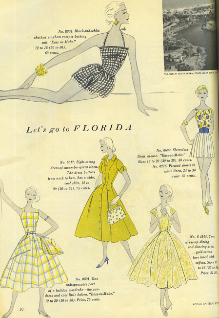Vogue 1955 pattern book