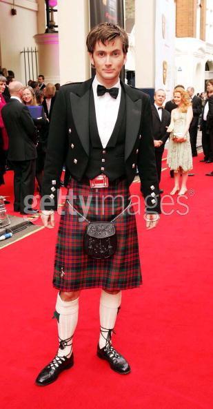 David Tennant IN A KILT.