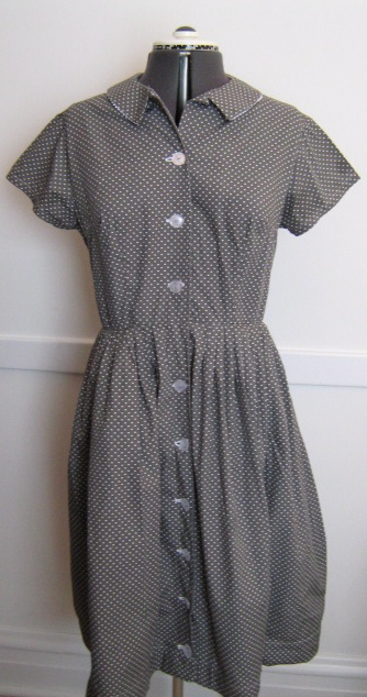 Gray Dot Dress 1