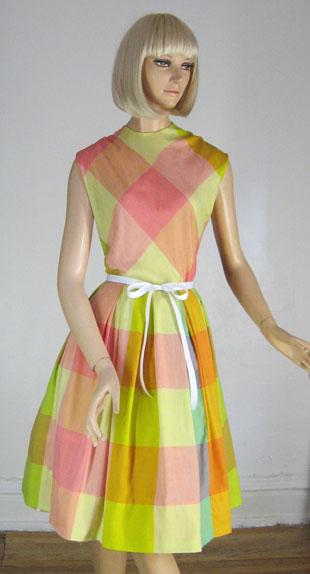Sherbet plaid dress