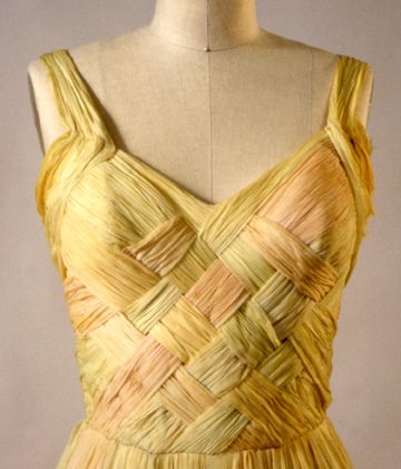 1940s basketweave dress