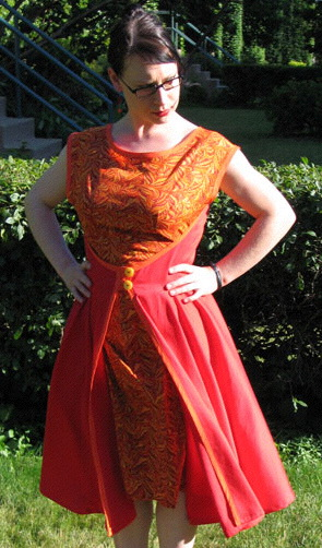 The Retro Butterick Wrap Dress A Dress A Day