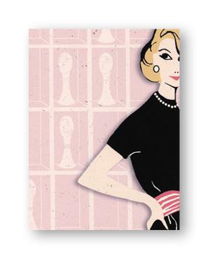 rock scissor paper dahlia dress stationery