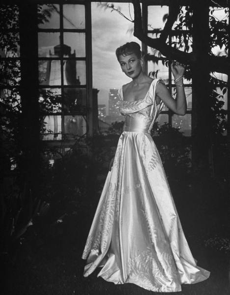 French brocade gown 1946