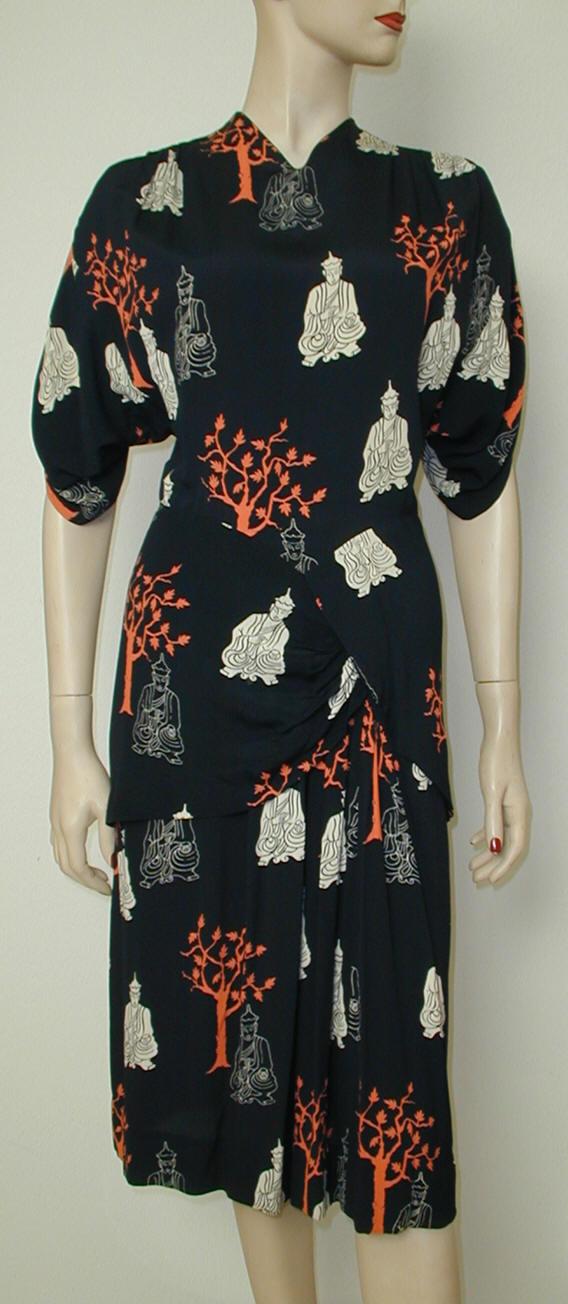 Buddha-print dress